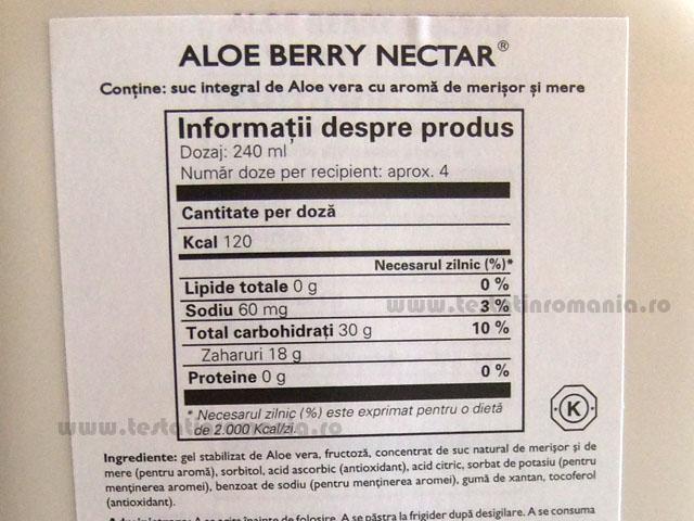 Aloe Berry Nectar Forever – pentru mentinerea sanatatii tubului digestiv