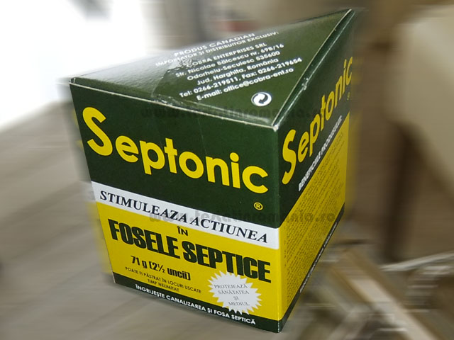 Septonic – stimuleaza actiunea in fosele septice