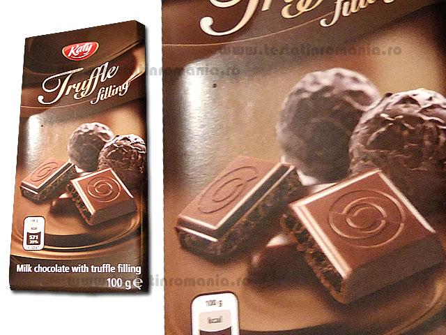 Katy – Truffle filling – ciocolata cu umplutura cu gust de trufe