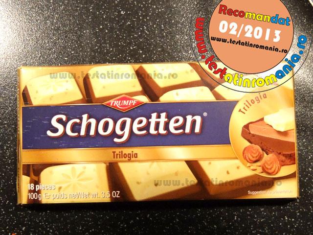 Trumpf Schogetten, Trilogia – Ciocolata alba cu alune crocante…