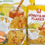 Fulgi de porumb cu glazura de miere si arahide, imbogatiti cu 8 vitamine