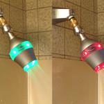 """Uji, bateria de duş cu leduri şi """"temporizator"""""""