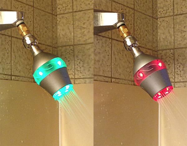duş cu leduri şi temporizator