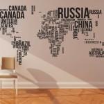 Tapet cu harta lumii – diferit de ce aţi văzut până acum!