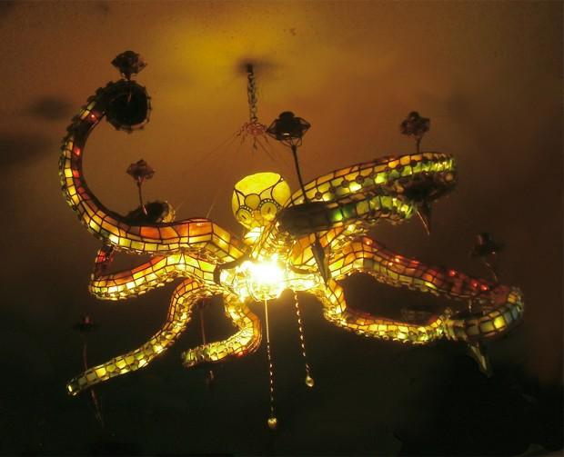corp de iluminat caracatita