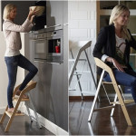 Scară și scaun în același timp!