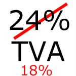 Cota TVA de 24% se poate reduce la 18%!