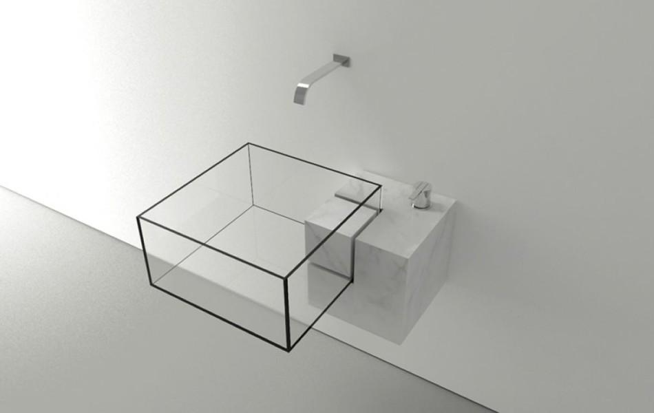chiuvetă cu design minimalist