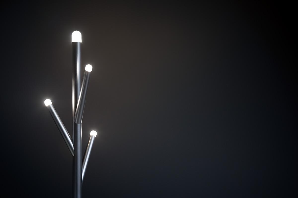 LUCCIOLA cuier iluminat cu spațiu pentru umbrelă