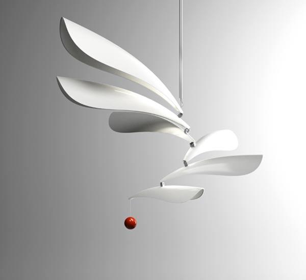 candelabru modern iluminat cu LED