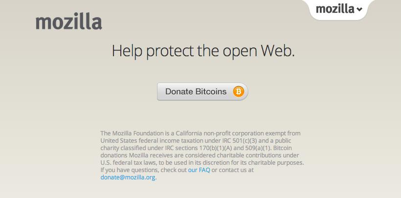 donatii, bitcoin, mozilla