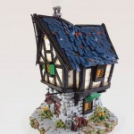 "Casă medievală din LEGO inspirată din ""Lord Of The Rings"""