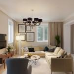 Design de interior clasic pentru o casă cu 3 dormitoare
