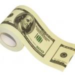 Hârtie de toaletă tipărită cu bancnota 100 USD!