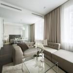 Un apartament cu două camere simplu, dar foarte luxos!