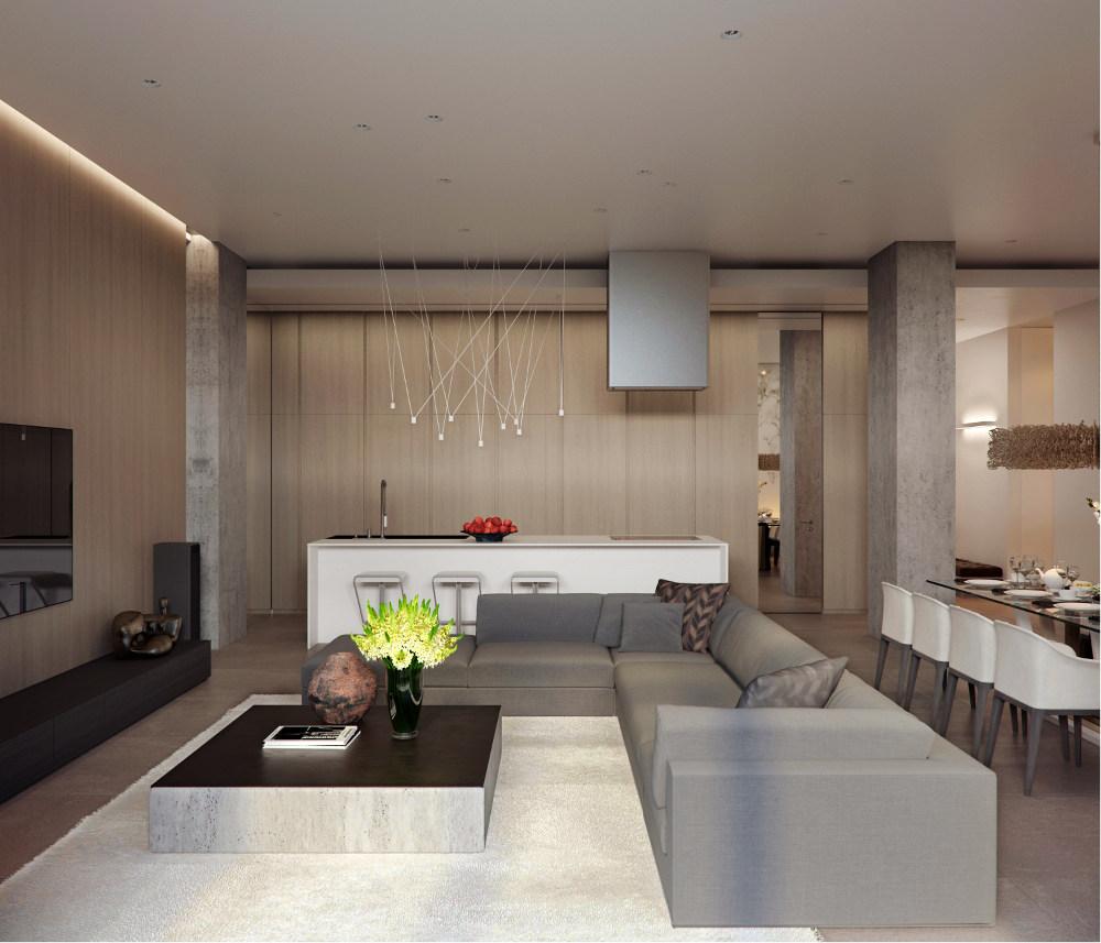 Design interior pentru un apartament de 190 mp