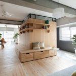 Două apartamente în stil minimalist japonez