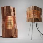 Corp de iluminat construit dintr-un trunchi de copac!