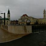 Imagini panoramice – Piața Ferdinand și Podul Sfântul Ladislau din Oradea
