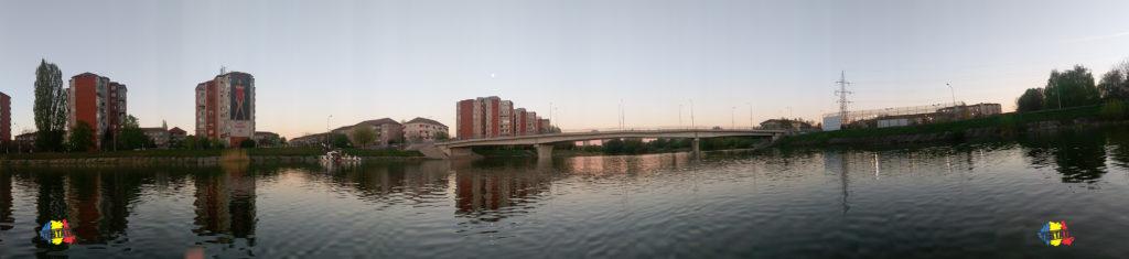 podul de pontoane oradea, fotografiat de pe cris