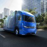 Daimler a prezentat semi-camionul electric E-FUSO Vision One de 11 tone cu o autonomie de 350 km