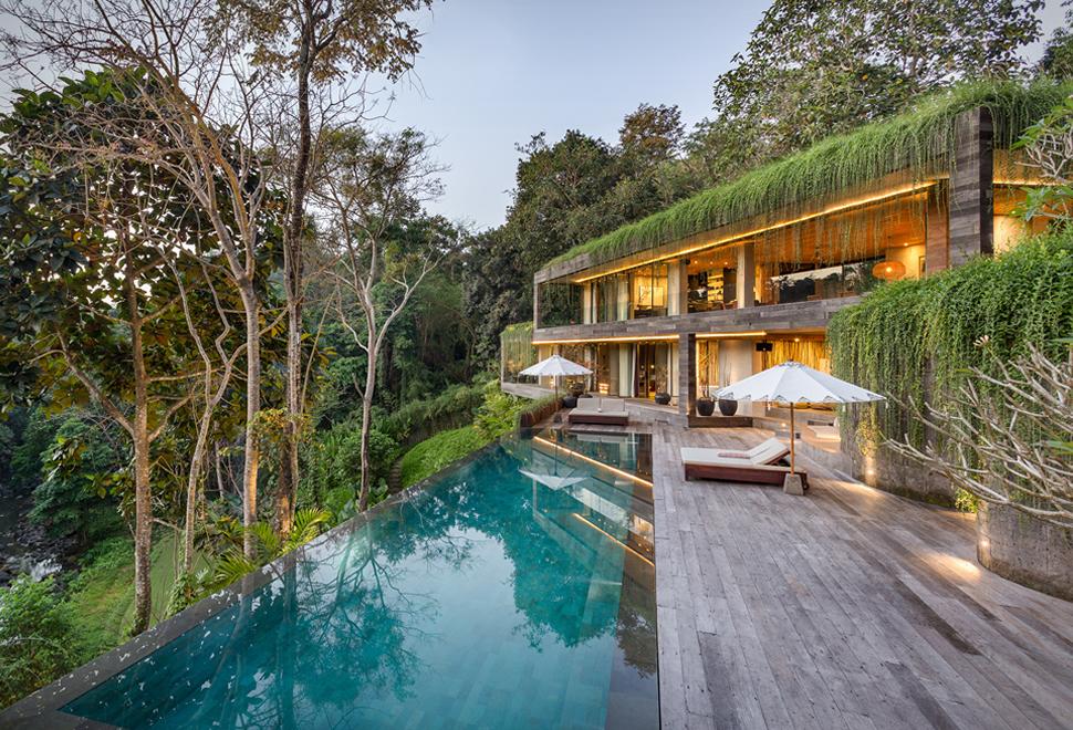 Villa Chameleon din jungla Bali, Indonezia
