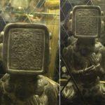 Statuia antică Mayan cu cod QR este dovada vie a călătoriilor în timp!