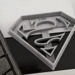 Formă pentru biscuiți cu logo Superman – imprimată 3D