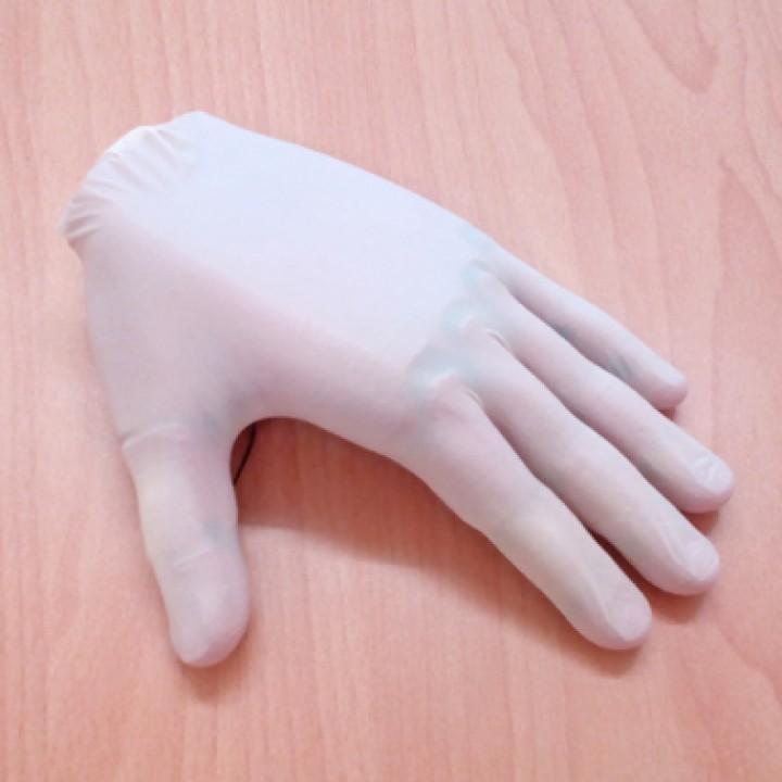 Mâna imprimată 3D, pare reală atunci când este îmbrăcată cu o mănușă chirurgicală!