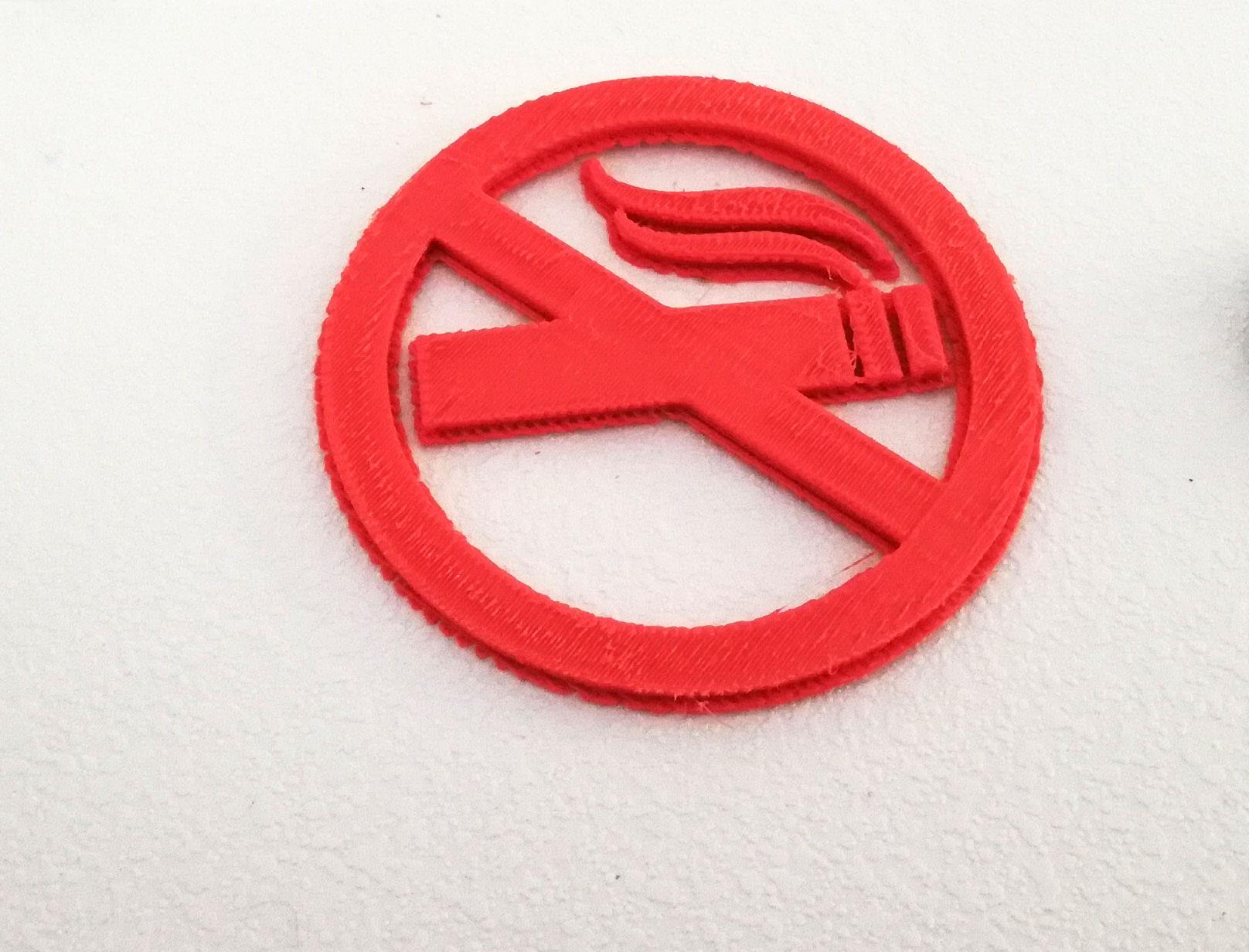 Semn: nu se fumează sau fumatul interzis – imprimat 3D