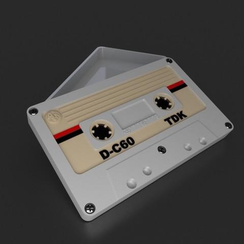 Cutie care imită clasica casetă audio – imprimată 3D