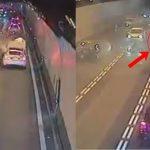 Șoferul unei Tesla a ieșit fără probleme în urma unui impact violent!