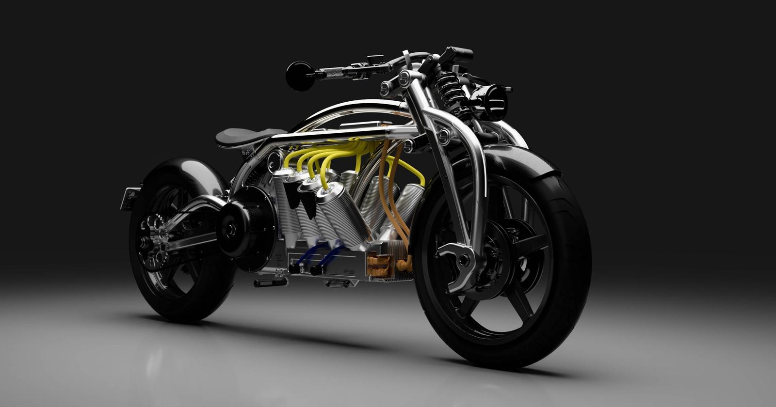 Bateria V8 de la motocicleta Curtiss alimentează un motor de 217 CP