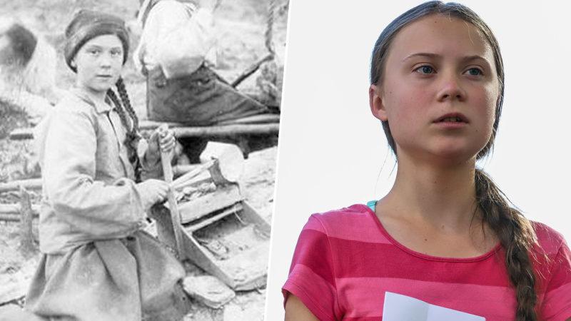 """O fată din 1898 care seamănă exact cu Greta Thunberg i-a forțat conspiraționiști să susțină că """"ea călătorește în timp ca să ne salveze"""""""