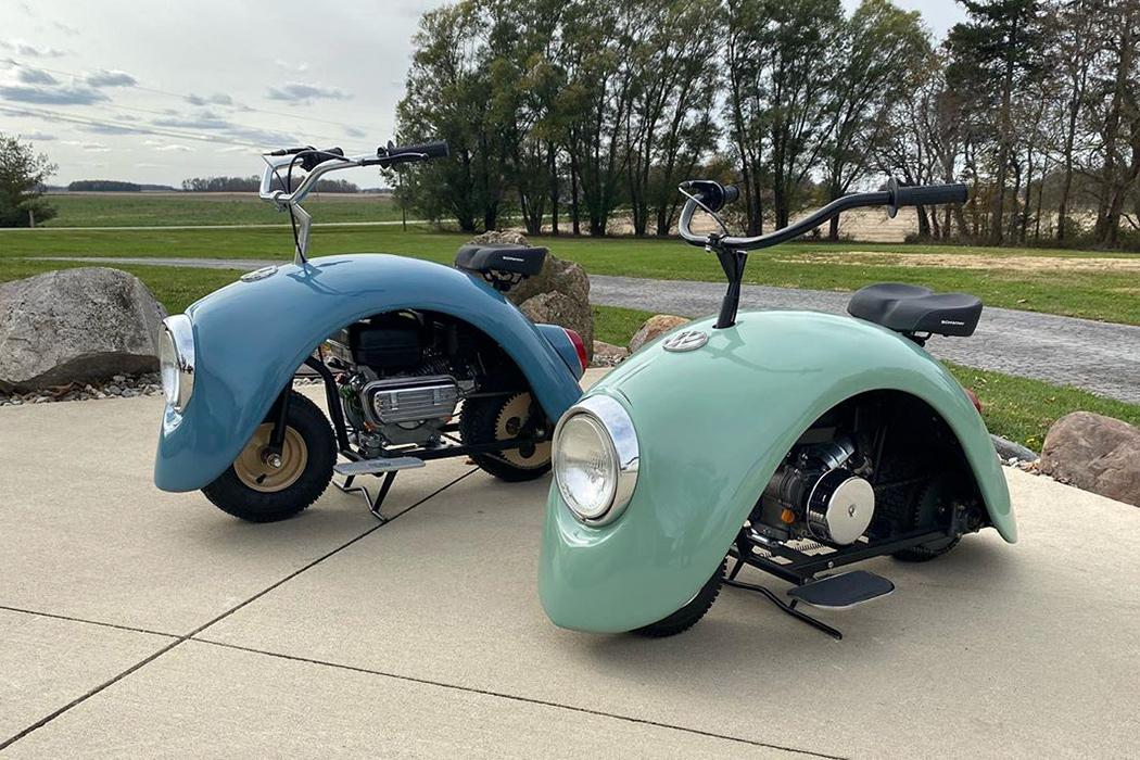 """Broscuța Volkswagen """"s-a demontat"""" pentru a crea o mini bicicletă de modă veche!"""