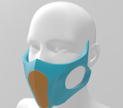 O mască desprinsă dintr-un film SF imprimată 3D