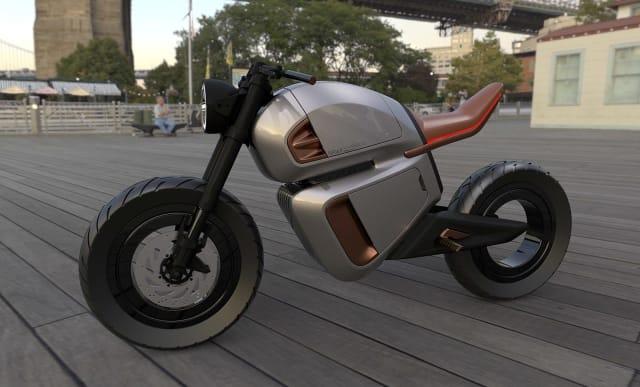 Motocicleta electrică Nawa utilizează un ultracapacitor care îi facilitează să parcurgă 300 km în oraș