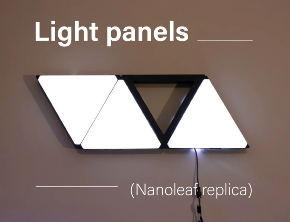 Aplică Nanoleaf replica – cu LED-uri și imprimată 3D